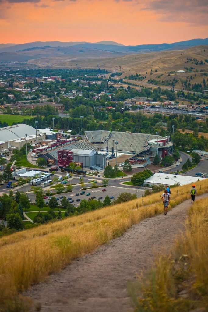 Overlooking the University of Montana