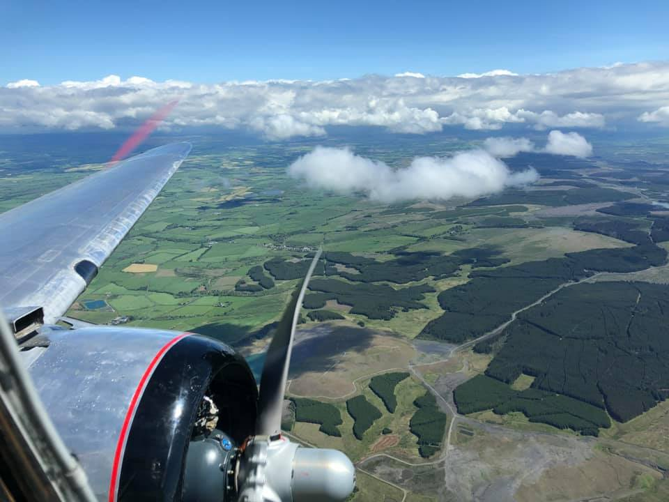 Flying from Scotland to Duxford.