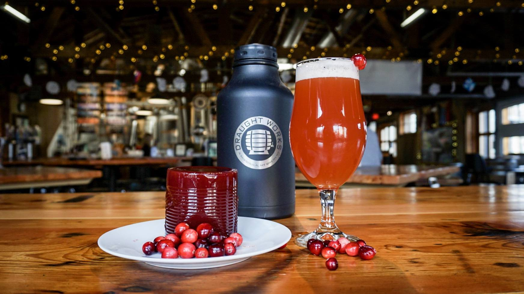 Draught Works Missoula Cranberry Gose is just one of the festive fall beers on tap in Missoula